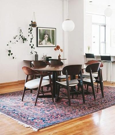 tappeto orientale per la sala da pranzo