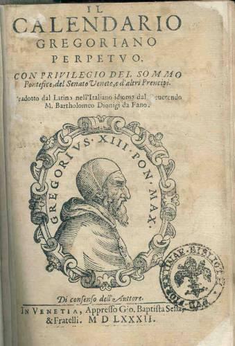 bolla papale calendario gregoriano